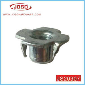 Zinc Plated Steel Tee Nut with Four Prongs for Furniture