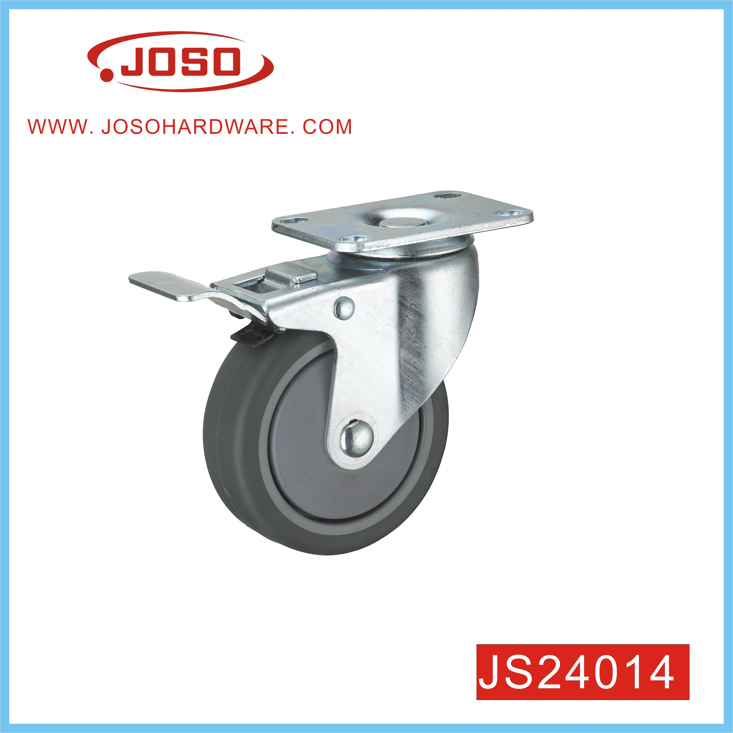 Popular Rubber Caster Wheel for Trolley
