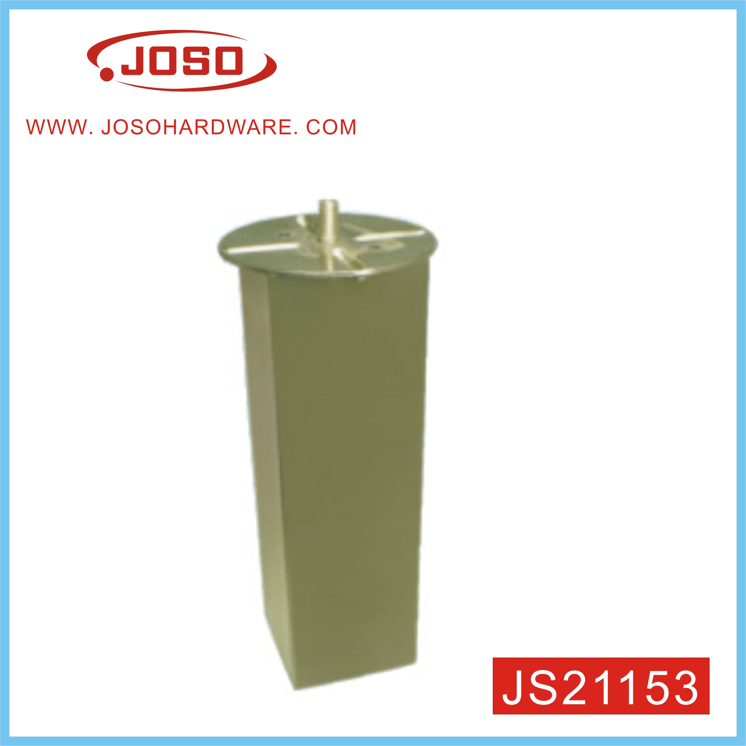 JS21153 Gold Color Plated Furniture Hardware Of Table Leg