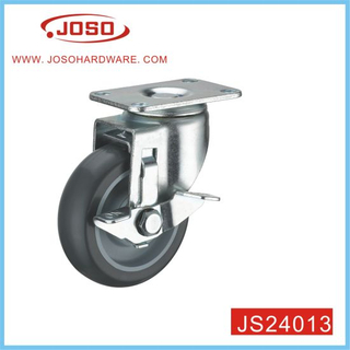 Caster Wheel with Side Brake for Shopping Cart