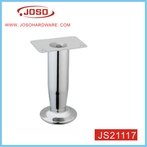 Silver Chrome Plated Cone Sofa Leg