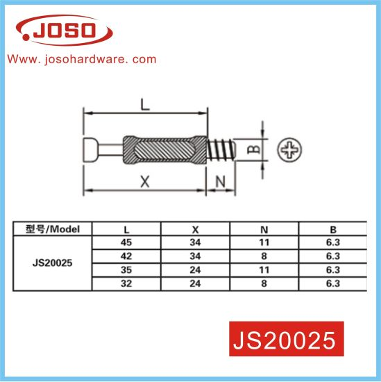 Factory Reach Standard Excenter Furniture Fitting Bolt for Drawer