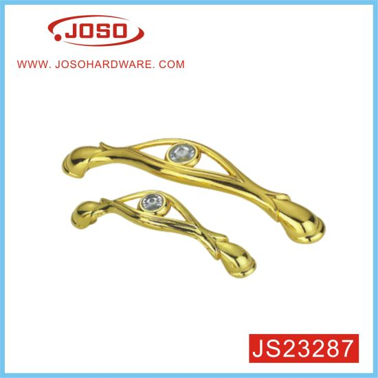 Wholesale Metal Gold Diamond Furniture Handle for Dresser Drawer