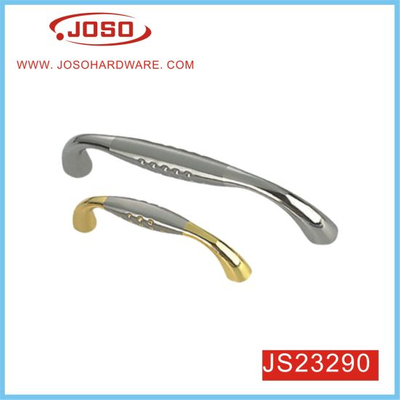 Gold and Chrome Double Color Pull Handle for Drawer