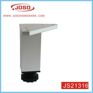 Adjustable Square Tube 92mm Height Furniture Leg for Sofa