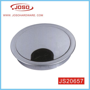 Mat Chrome Metal Wire Hole Cover for Desk