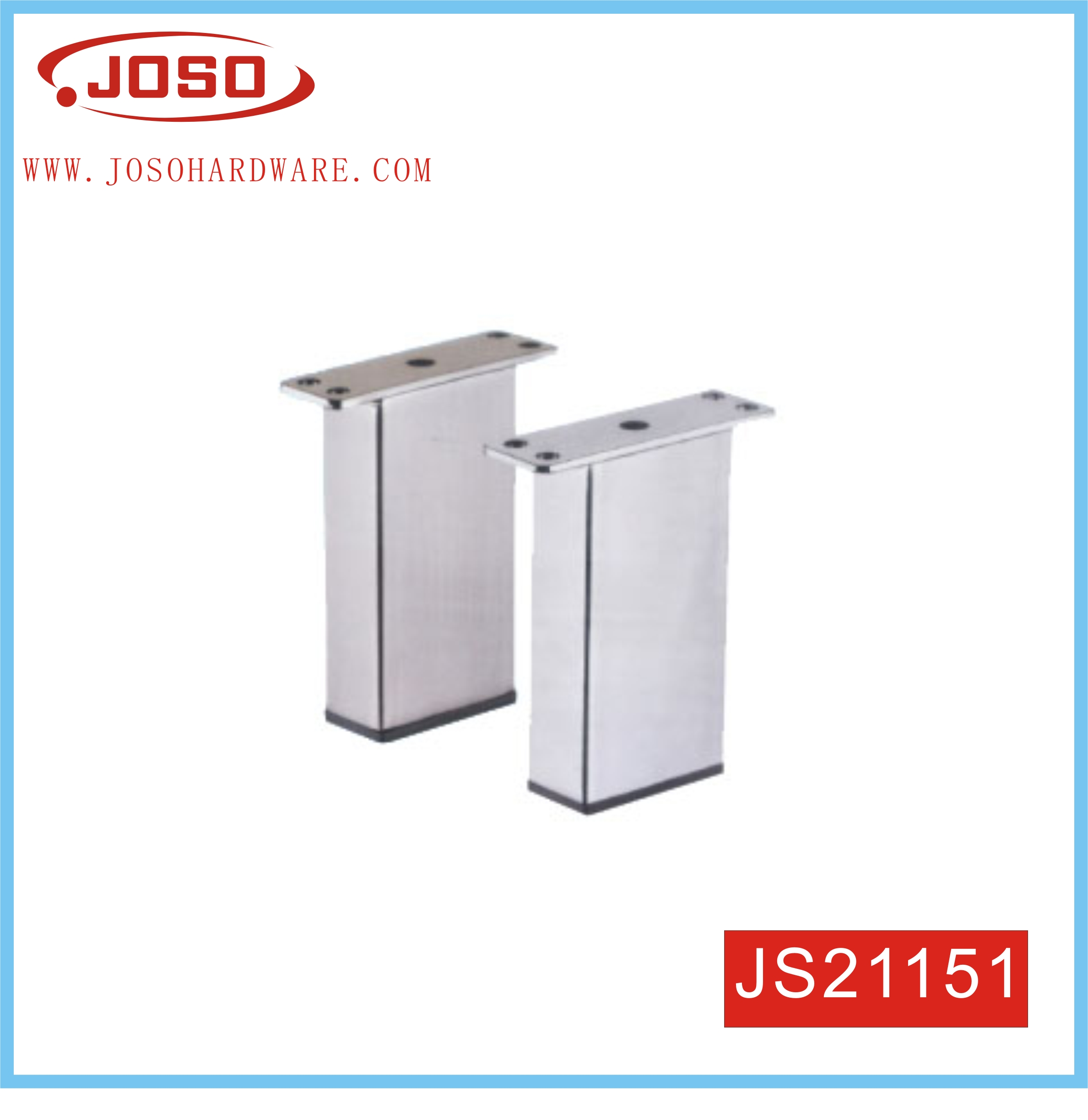 80mm Height Fashoion Rectangle Steel Leg For Furniture Hardware